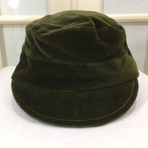 Nordstrom Velvet Newsboy / Cabbie Hat / Green  S